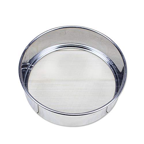 F-blue Acero Inoxidable Tamizar la harina para Hornear Herramienta de la Cocina Colador harina en Polvo Super Fino Ronda Harina Azúcar tamizadora Colador