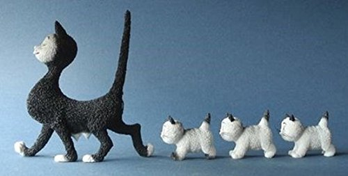Los Gatos de Dubout - La Promenade - T:12 cm - segun un dibujo de Albert Dubout #23