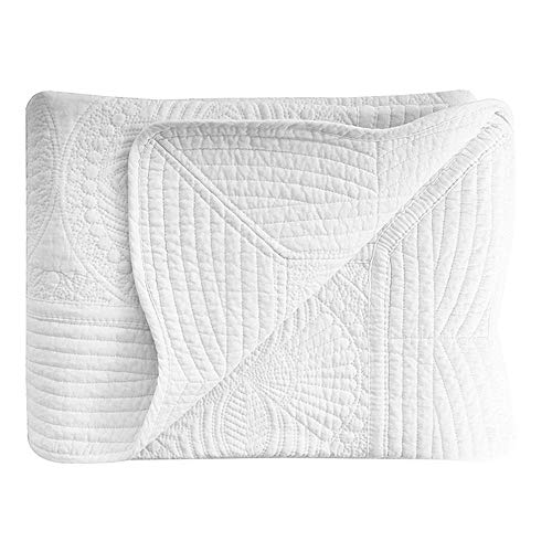 House White Baby Quilts, Cotton Embossed Stitching Baby...