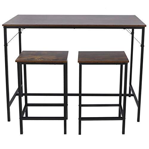Omabeta Taburete de Bar Resistente al Desgaste, Muebles de Comedor, Mesa de Bar para Oficina, Sala de Estar, Dormitorio