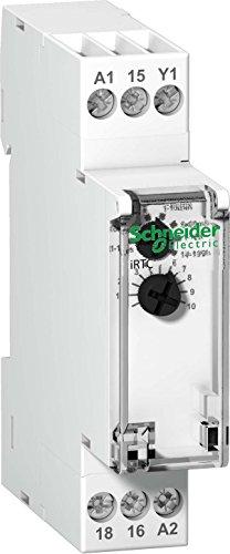 Schneider A9E16067 Zeitverzögertes Rückfallrelais iRTC, 0,1 sec-100 Std, 24-240VAC, 24VDC