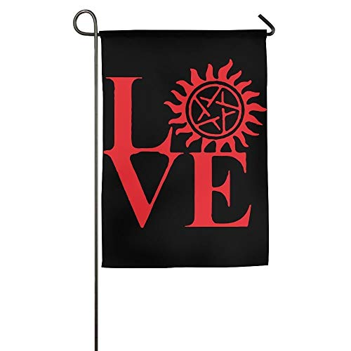 AOHOT Decorazioni per Il Giardino Bandiere Bandiera,Love Supernatural Fashion Outdoor/Indoor Demonstration Flag for Holiday