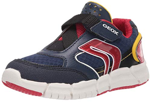 Geox Jungen J FLEXYPER Boy B Sneaker, Blau (Navy/Red C0735), 32 EU