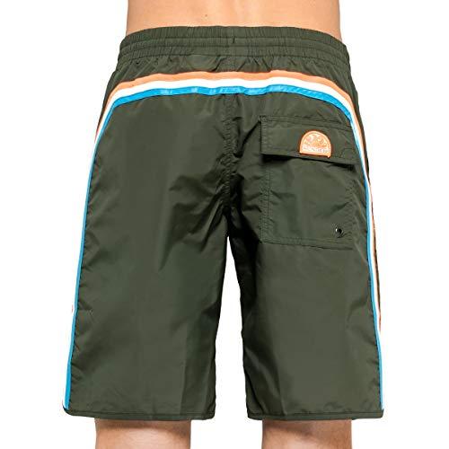 SUNDEK Pantaloncini Costume Mare Lungo Uomo Dark M570BDTA100
