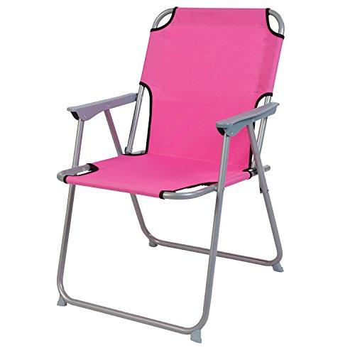 Pratique et bien Chaise de camping Multistore 2002 - Pliable - En tissu - Rose