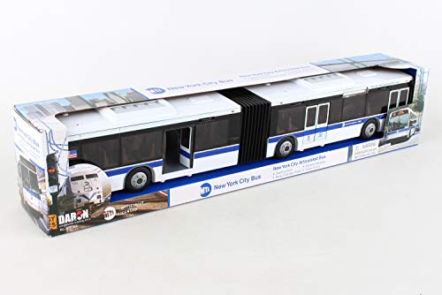 Daron RT8563 New York City MTA Metro Articulated Electric Bus 1:43 Scale- 16 Inches long