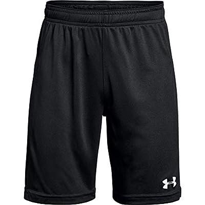 Under Armour Boys' Golazo 2.0 Soccer Shorts , Black (001)/White , Youth X-Large