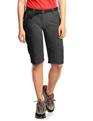 MAIER SPORTS Damen Bermuda Lawa aus 90% PA 10% EL in 25 Größen, Outdoorhose/ Funktionshose/ Shorts inkl. Gürtel, bi-elastisch, schnelltrocknend und wasserabweisend, Größe 44