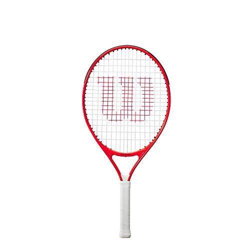Wilson Roger Federer 26 Raqueta de tenis, Para niños de 11 a 12 años, Aleación AirLite, Rojo, WR054410H