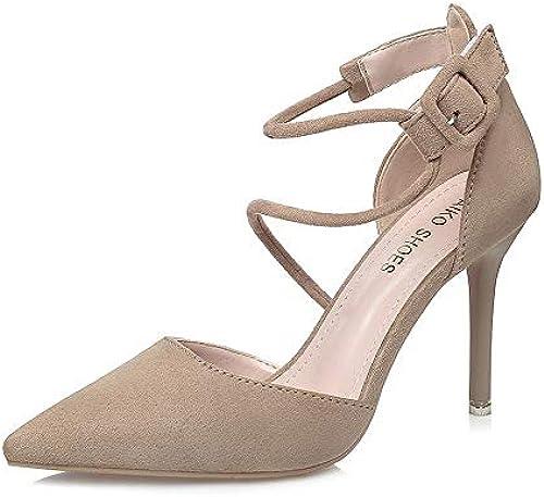 KERVINFENDRIYUN YY4 Frauen High Heels sexy Stiletto Strap Sandalen professionelle professionelle professionelle OL Damenschuhe (Farbe   Khaki, Größe   37)  weltweite Verbreitung