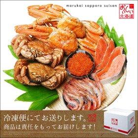 毛蟹 ズワイ蟹 ボタン海老 紅鮭 いくら醤油漬け 豪華海鮮セット C 北海道