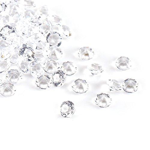 1000 piezas de cristal acrílico, diamantes de imitación transparentes con parte trasera...