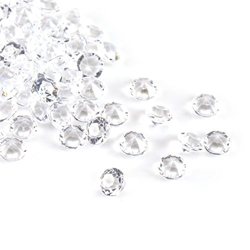 Zerodis Verpakking met 5000 mm transparante diamantparels, voor brochures, vazen, voor midden in de tafel, bruiloft, douche, vaas met parels, decoratie