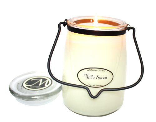 Milkhouse Candle Creamery Butter Jar Candle, Tis The Season, 22-Ounce
