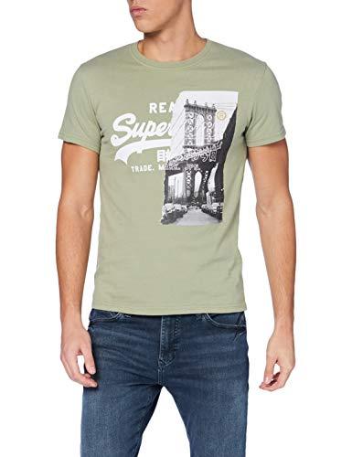 Superdry Mens VL NYC Photo Tee T-Shirt, Oil Green, L