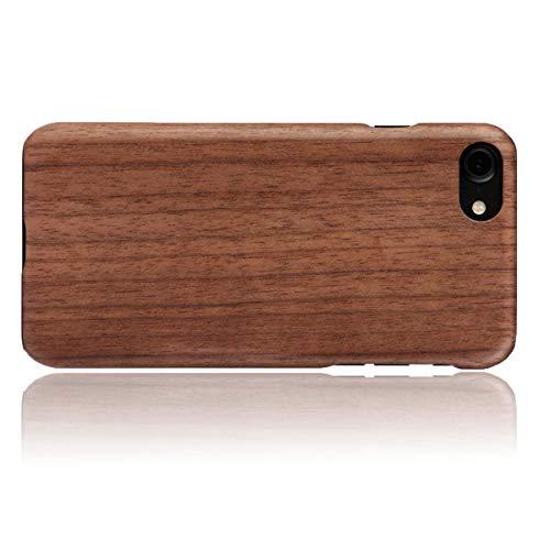 WOLA für iPhone SE 2020/7 / 8 Hülle Holz AIR Handyhülle aus Aramid und Holz - Bambus Walnuss