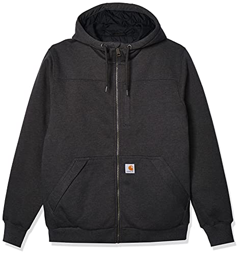 Carhartt Rockland Quilt-Lined Full-Zip Hooded Sweatshirt Chandail, Carbon Heather, L Homme
