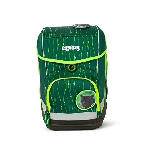Ergobag cubo RambazamBär - Lumi Edition, ergonomischer Schulrucksack, Set 5-teilig, 19 Liter, 1.100 g, Grün