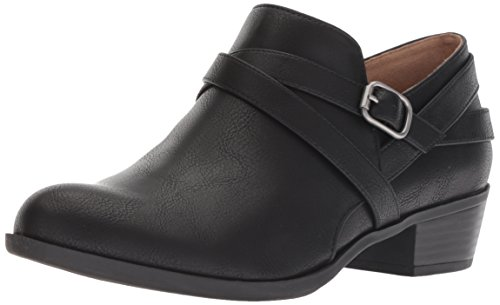 LifeStride Women's Adley Ankle Boot, Black, 9 W US