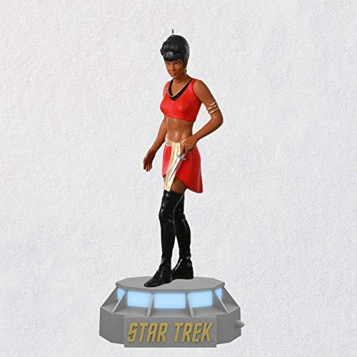 Hallmark Keepsake Weihnachtsdekoration 2020, Star Trek Spiegel, Spiegelkollektion Lieutenant Nyota Uhura Storytellers mit Licht und Sound