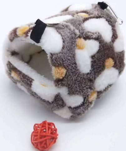 YAzNdom Hamster Coton écureuil Sac de Miel 鼯 Branche de la Fleur Lapin hollandais Cochon d'Inde Chinchillas Hiver Chaud nid hamac (Color : Brown)