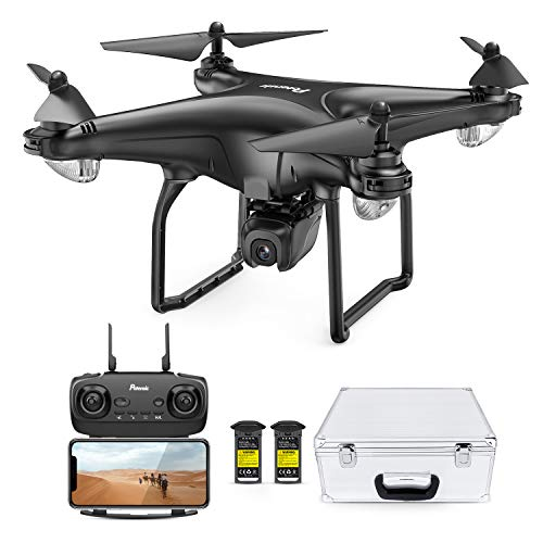 Potensic D58, FPV Drone with 1080P Camera, 5G WiFi HD Live Video, GPS Auto Return, RC Quadcopter for Adult, Portable Case, 2 Battery, Follow Me, Easy Selfie Expert Beginner