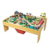4. KidKraft Adventure Town Railway Train Set & Table with EZ Kraft Assembly, Natural