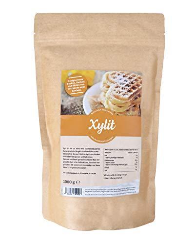 Premium Xylit mit 1:1 Süßkraft gegenüber Zucker 1kg verwendbar als kalorienarmer Zuckerersatz, bekannt aus Supermarkt und Drogerie in Deutschland, feinkörnig (1 kg)