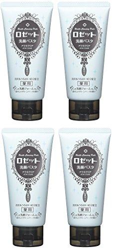 【まとめ買い】ロゼット 洗顔パスタ アクネクリア 120g (医薬部外品)×4個