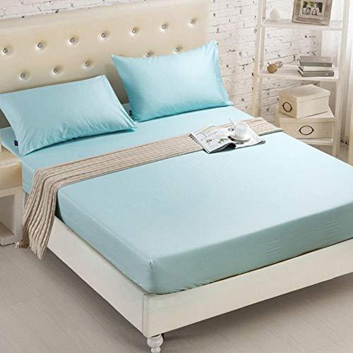 OQQE 1 Uds, Sábanas Ajustables, sábanas de Color sólido con Banda elástica, tamaño Queen Doble, 160 cm * 200 cm, Funda de colchón 100% poliéster, CL001-14,100x200x20