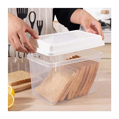 Vanities Caja de Almacenamiento de Pan de Alimentos con Tapa de refrigerador Caja Transparente Tostada Fruta Caja de Alimentos