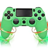 LVHI Mando Inalámbrico para PS4, Mando para Playstation 4/PS4 Pro/PS4 Slim, Controlador Inalámbrico, Gamepad Wireless Bluetooth Controlador Joystick, Textura Antideslizante (Color : Green)