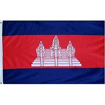 Cambodia Flag Polyester 3 ft. x 5 ft.