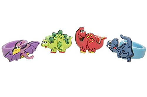 Schnooridoo 12 Softringe - Dinosaurier Dino - Kinderring Soft Ring Kindergeburtstag Give Away
