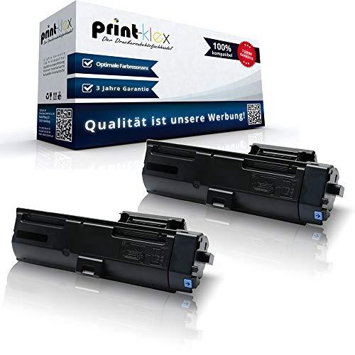 2x Kompatible Tonerkartuschen für Kyocera ECOSYS P2040DN P2040DW 1T02RY0NL0 TK1160 TK-1160 K TK 1160 K Schwarz Black - Office Pro Serie