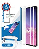 Galaxy S10 Plus Screen Protector Tempered Glass, Roopose Full 3D Curved Edge Tempered Glass [Solution for Ultrasonic Fingerprint] with Easy Install Kit- 2 Pack