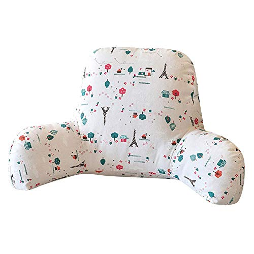 Wintesty Multifunktionale Baumwolle und Leinen Taille Kissen-Kissen Schaumstoffkissen Rückenkissen T-Form Kissen Baumwolle und Leinen mit abnehmbarem Bezug für Kissen Schlafsofa Bürostuhl Well Made