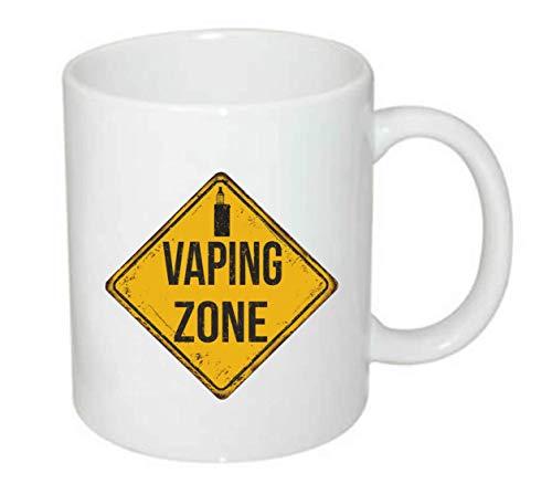 Druckerlebnis24 Tasse - Vaping Zone Elektrische Zigarette - Kaffee-Tasse 330ml - Unisize aus Keramik - Tee