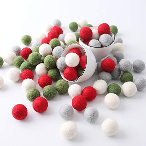 Baby Firstlook ウール100% モコモコ感 タップリフェルトボール 羊毛フェルト 羊毛ボール 手芸パーツ 100個入れ 4カラー 直径2cm