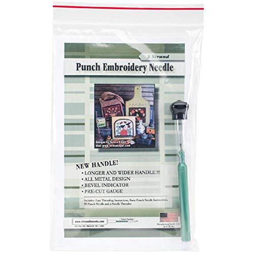 CTR 3 Strand Punch Embroidery Needle with Threader