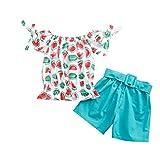 Completi estivi per ragazze da bambino, Toddler Kids Baby Girls Fashion Anguria Stampa Top...