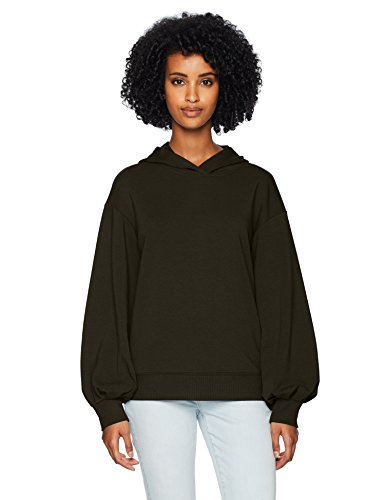 Amazon Brand - Daily Ritual Women's Terry Cotton and Modal Hoodie, Olive, Large