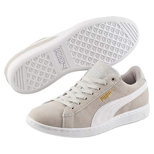 Mode Puma Vikky SoftFoam Sneakers Grau violett weiß Damen
