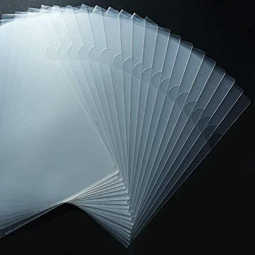 Foroffice 30 Pack Clear Document Folder Copy Safe Project Pocket US Letter/ A4 Size in Transparent Color