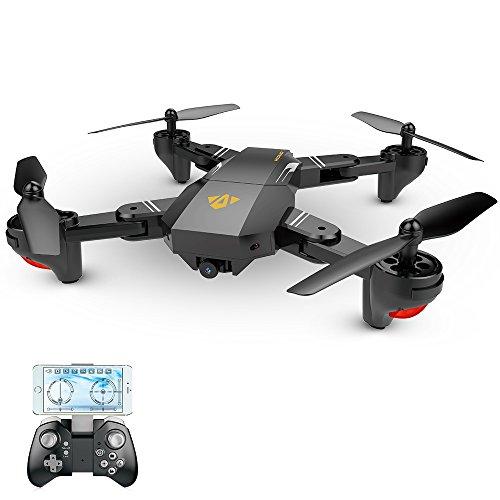 Goolsky VISUO XS809HW WiFi FPV 2.0MP 120 ¡ã FOV Grandangolo Pieghevole Selfie Drone Altezza Presa RC Quadcopter G-Sensor RTF (1 Batteria)