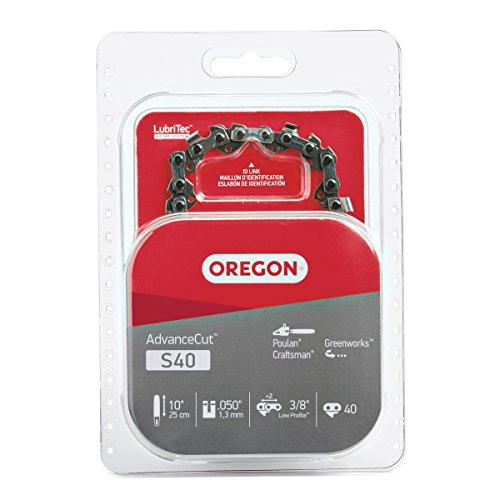 Oregon S40 AdvanceCut 10-Inch Chainsaw Chain, Fits Craftsman, Poulan, Remington