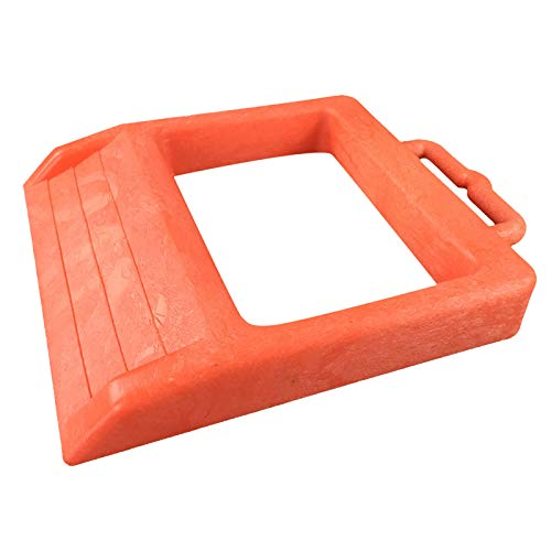 ROBLOCK Pallet Jack Chock Heavy Duty Pallet Truck Chock Jack Stopper 14.2' Length x 11.2' Width x 2' Height (1 Pack Orange)