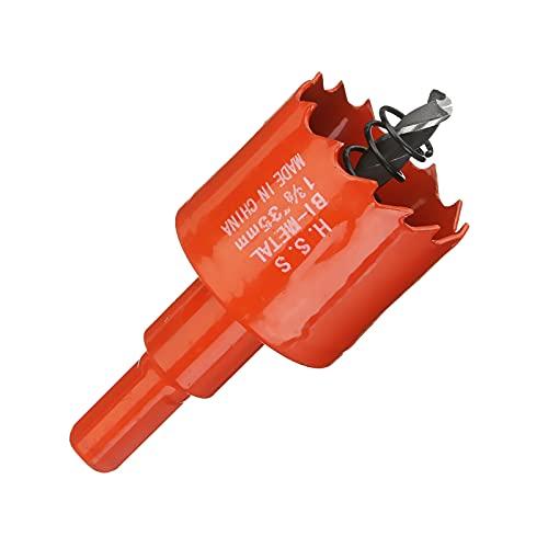 1pc rojo 16-200mm acero HSS bimetálica Woods Hole Saw Bit cortador de perforación de plástico Tratamiento de la madera/PVC/Madera DIY juego de brocas, 18mm