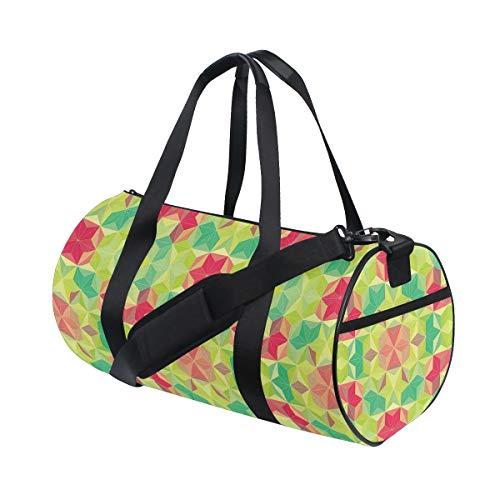 PONIKUCY Bolsa de Viaje,Fractal Mosaico Diagonal Cubos