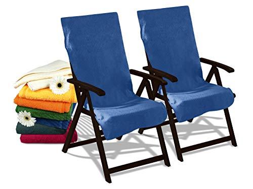 Dyckhoff Doppelpack Schonbezüge für Gartenstuhl & Gartenliege 277.297, Gartenstuhl (60 x 130 cm), blau